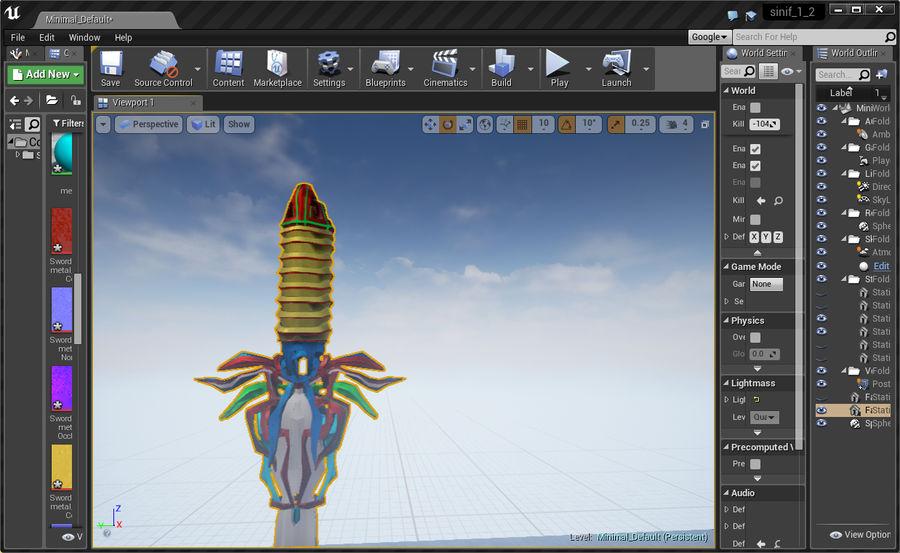 Fantasy Sword royalty-free 3d model - Preview no. 22