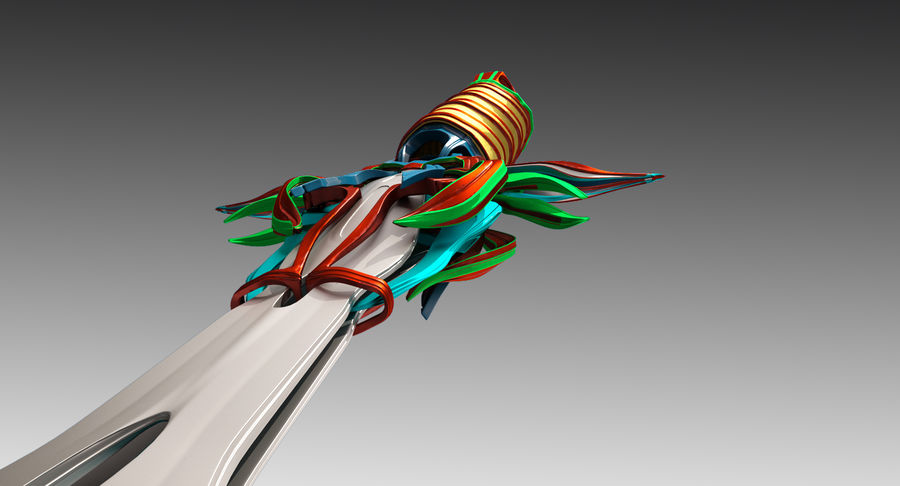 Fantasy Sword royalty-free 3d model - Preview no. 7