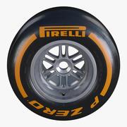 Formula1 뒷바퀴 Pirelli PZero 하드 타이어 3d model