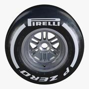 Formula1 뒷바퀴 Pirelli PZero 중형 타이어 3d model
