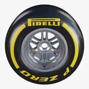 Formula1 뒷바퀴 Pirelli PZero 소프트 타이어 3d model