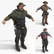 Wasteland 2 - Male Gippers 3d model