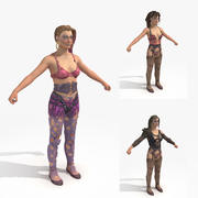 Wasteland 2 - Post Apocalyptic Females 3d model