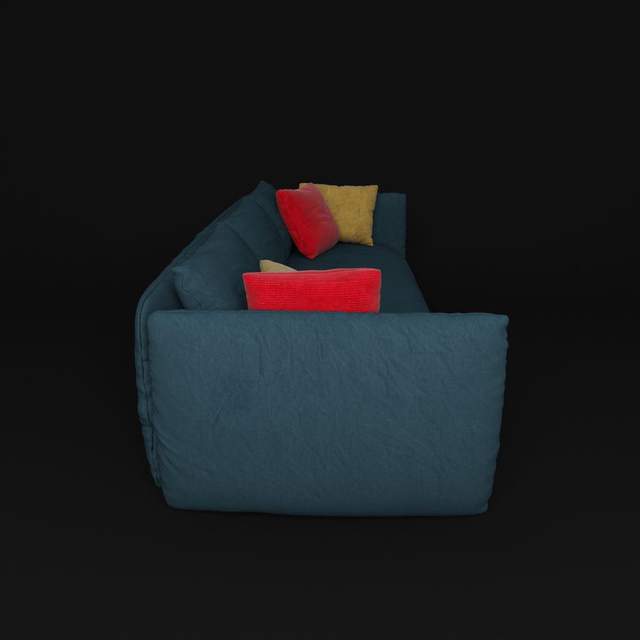 Sofa Dark Blue royalty-free 3d model - Preview no. 7