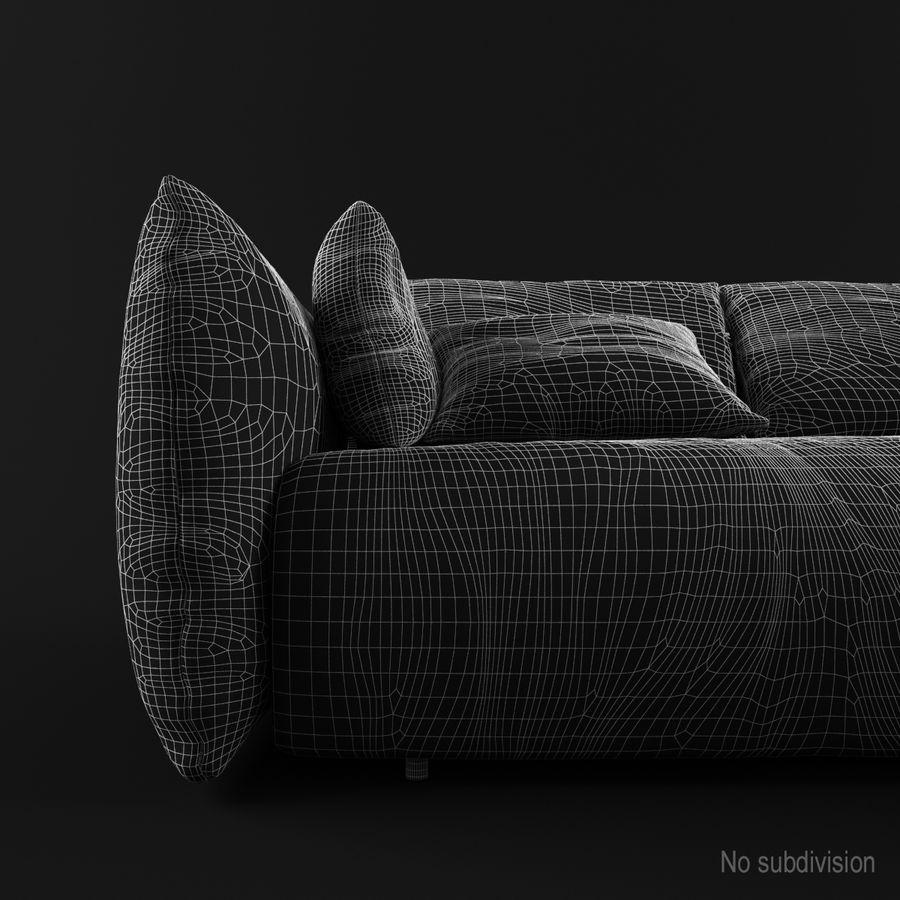 Sofa Dark Blue royalty-free 3d model - Preview no. 8