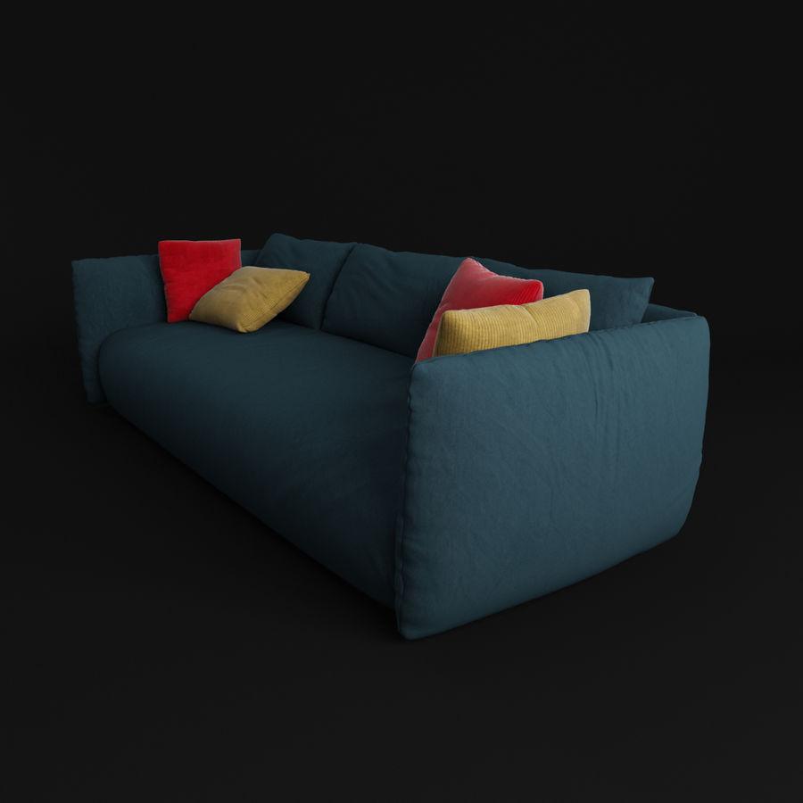 Sofa Dark Blue royalty-free 3d model - Preview no. 2