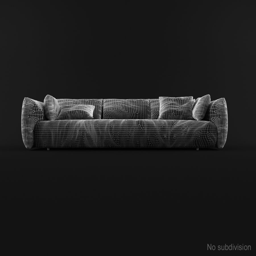 Sofa Dark Blue royalty-free 3d model - Preview no. 9