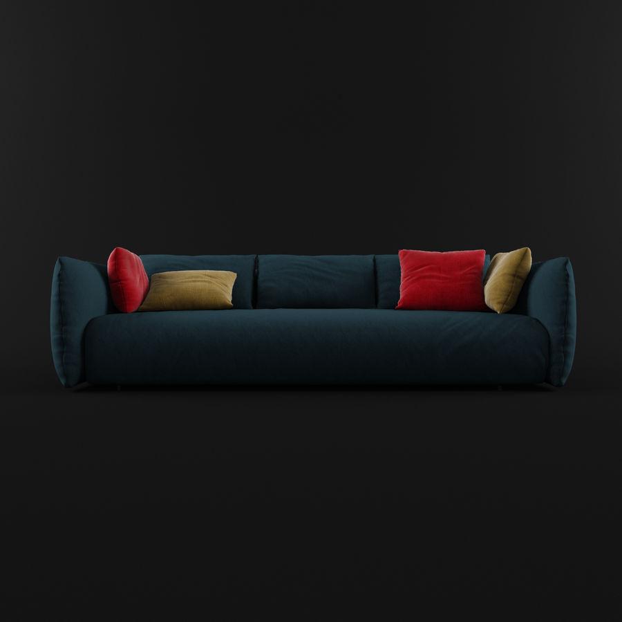 Sofa Dark Blue royalty-free 3d model - Preview no. 3