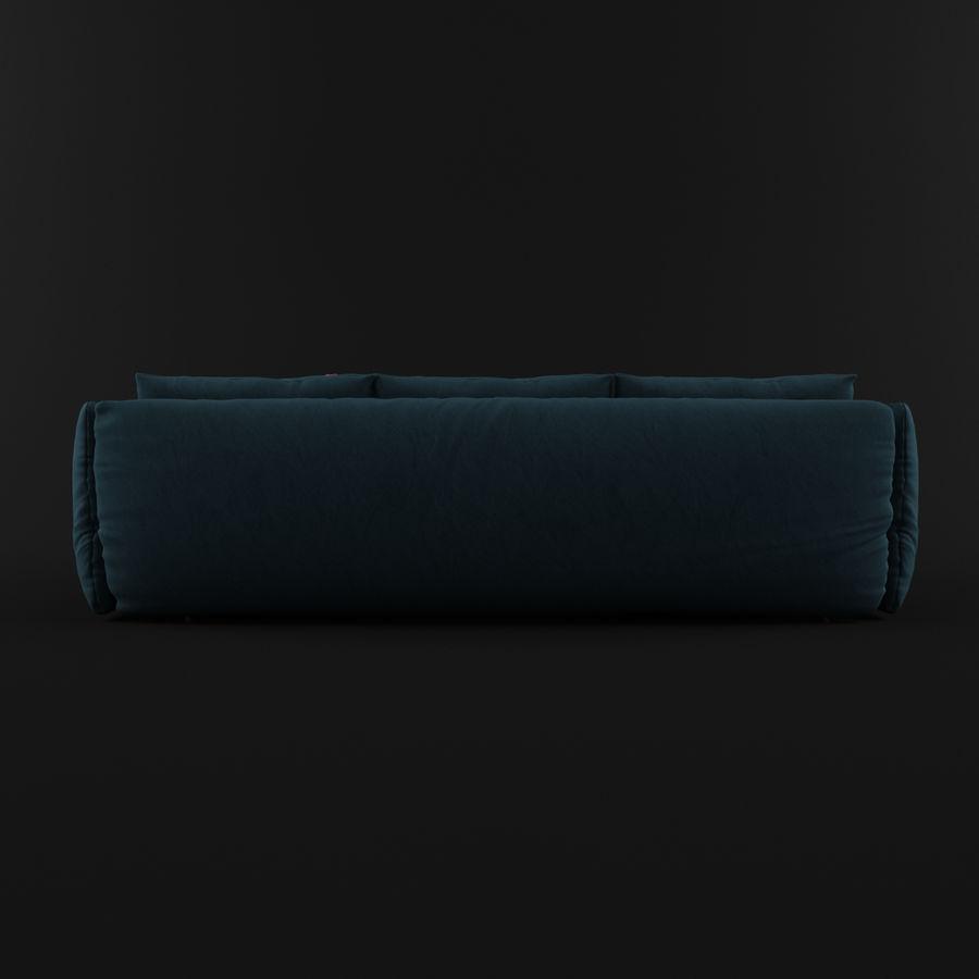 Sofa Dark Blue royalty-free 3d model - Preview no. 4