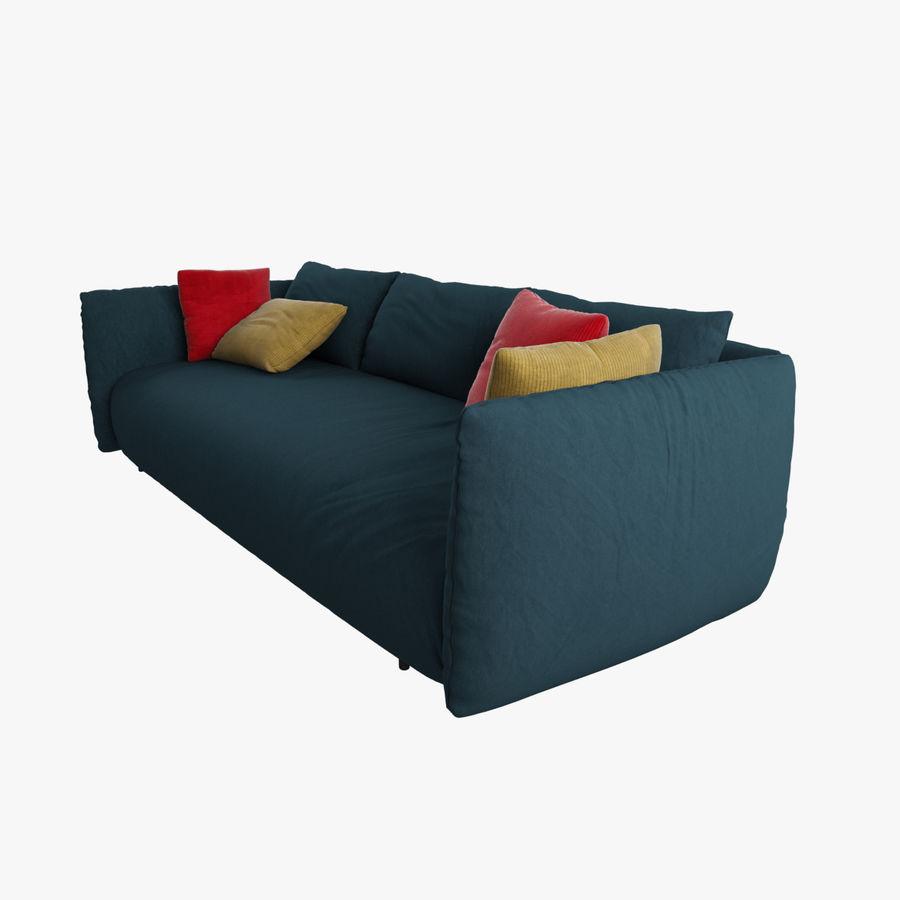 Sofa Dark Blue royalty-free 3d model - Preview no. 1
