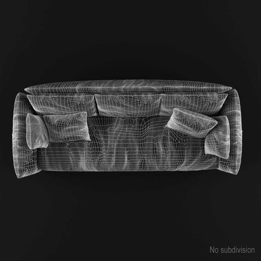 Sofa Dark Blue royalty-free 3d model - Preview no. 11