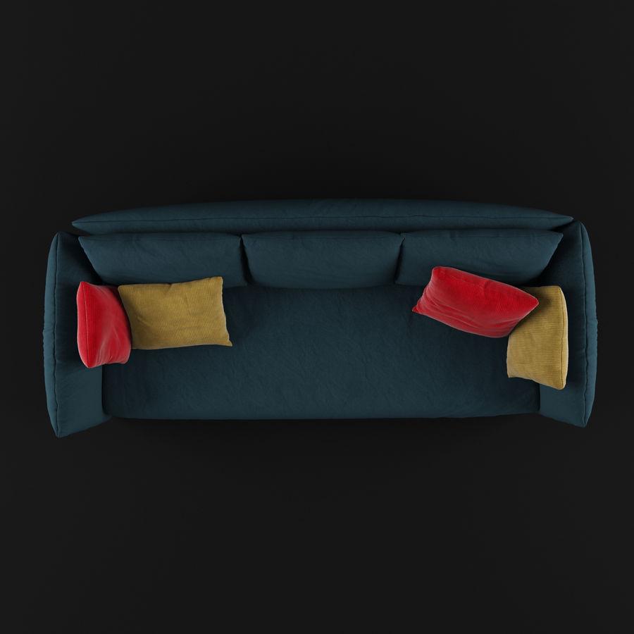 Sofa Dark Blue royalty-free 3d model - Preview no. 5