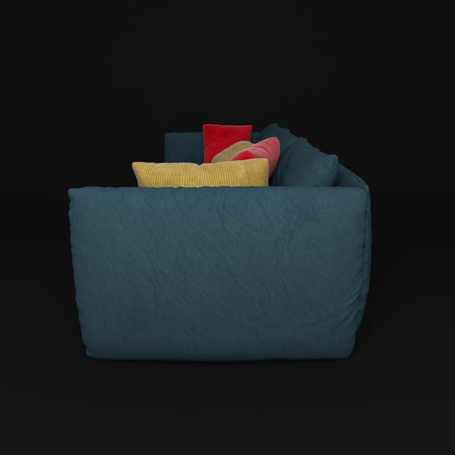 Sofa Dark Blue royalty-free 3d model - Preview no. 6