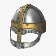 Viking Horned Helmet 3D Model 3d model