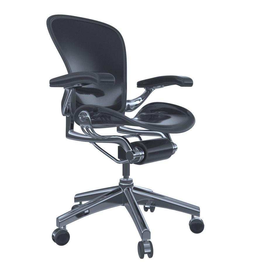 Herman Miller Aeron Chaise de bureau royalty-free 3d model - Preview no. 2