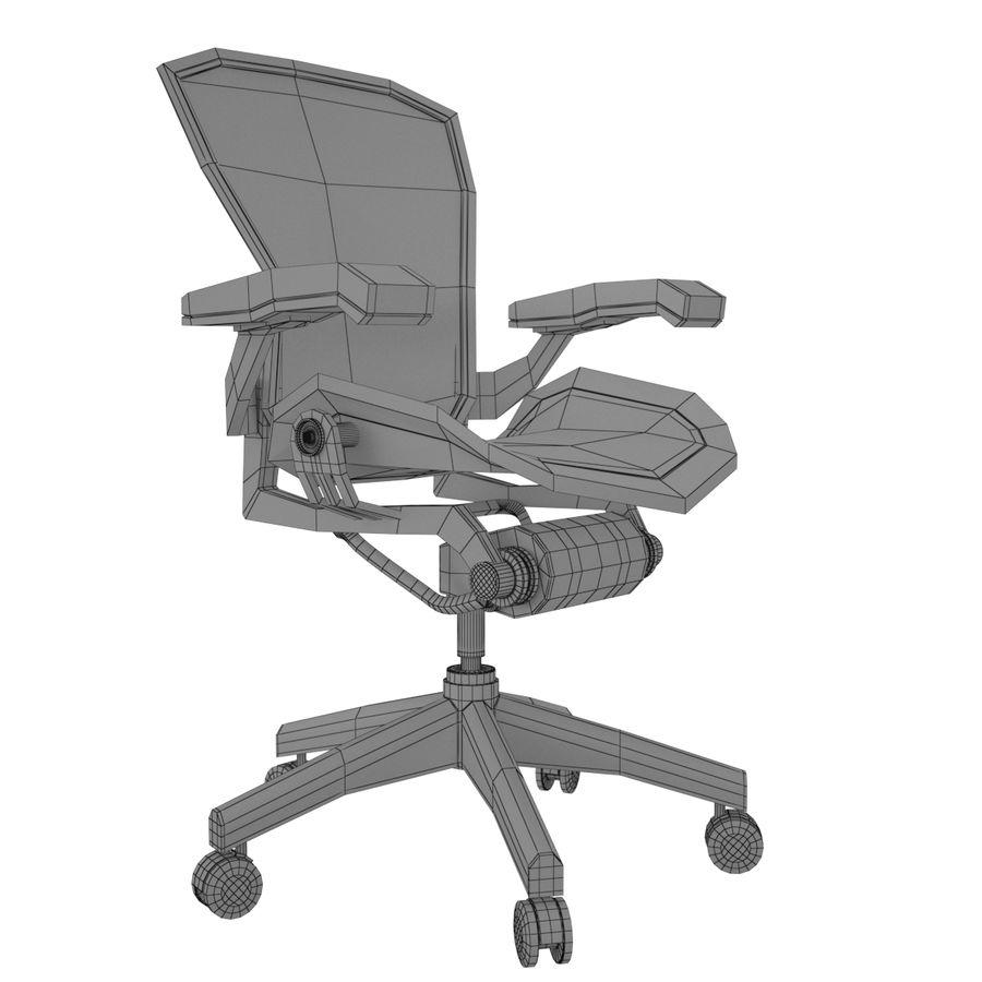 Herman Miller Aeron Chaise de bureau royalty-free 3d model - Preview no. 9