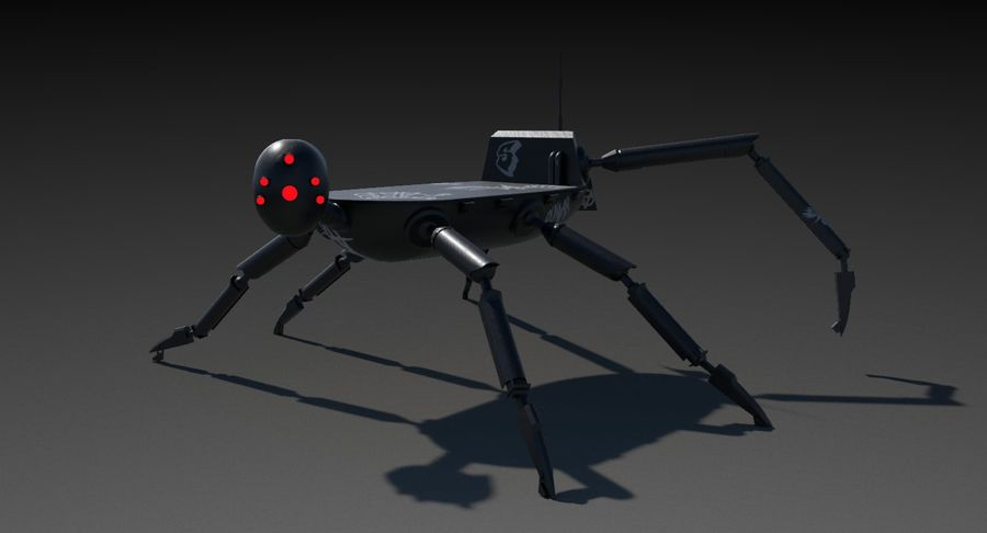 Robot Spider royalty-free 3d model - Preview no. 3