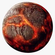 Planeta de lava (Planeta 55 Cancri e) modelo 3d
