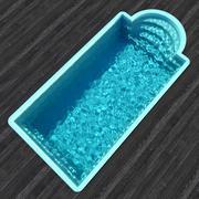 Elegant simbassäng 3d model