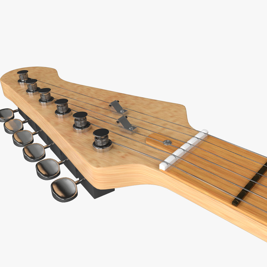 Fender Stratocaster Guitarra eléctrica royalty-free modelo 3d - Preview no. 8