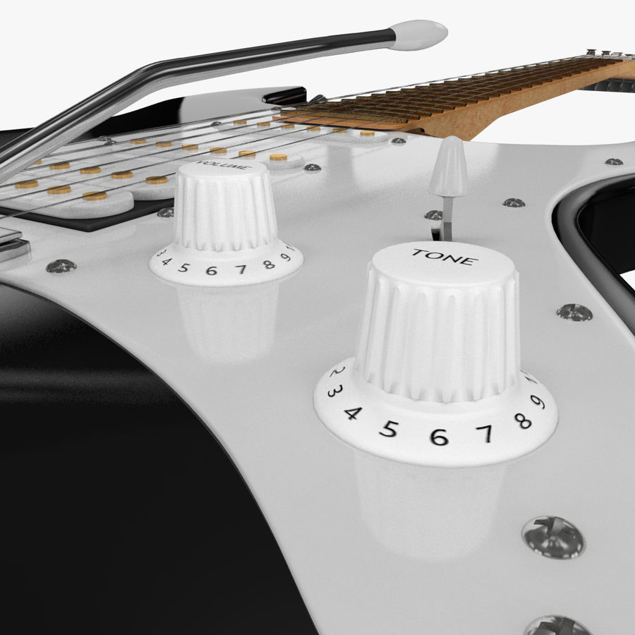 Fender Stratocaster Guitarra eléctrica royalty-free modelo 3d - Preview no. 24