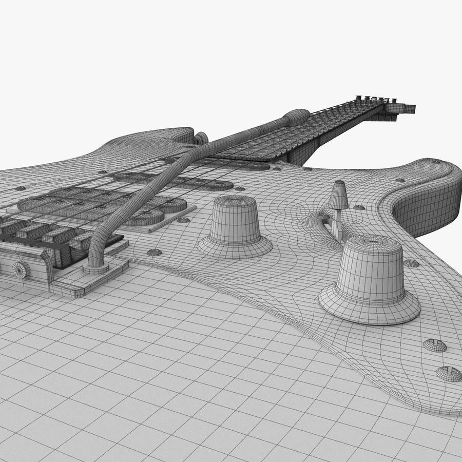Fender Stratocaster Guitarra eléctrica royalty-free modelo 3d - Preview no. 20