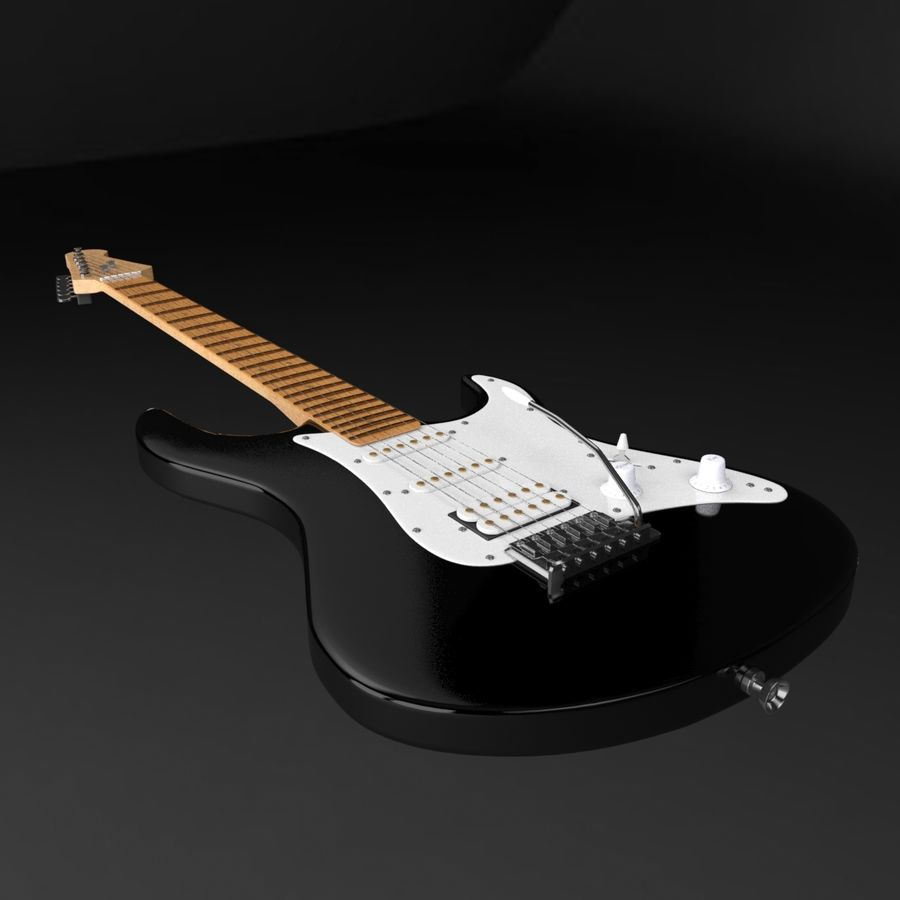Fender Stratocaster Guitarra eléctrica royalty-free modelo 3d - Preview no. 2