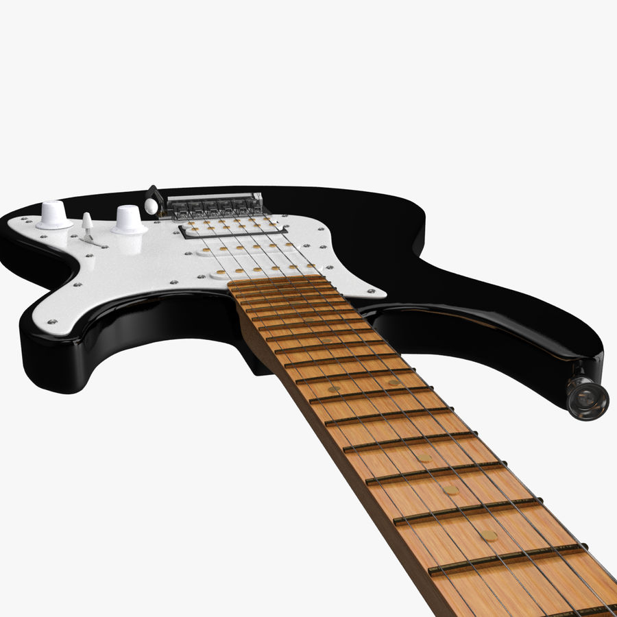 Fender Stratocaster Guitarra eléctrica royalty-free modelo 3d - Preview no. 23