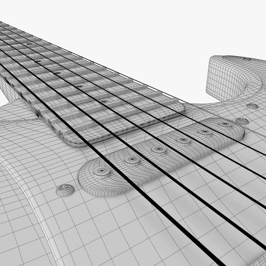 Fender Stratocaster Guitarra eléctrica royalty-free modelo 3d - Preview no. 15