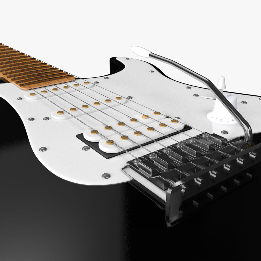 Fender Stratocaster Guitarra eléctrica royalty-free modelo 3d - Preview no. 10