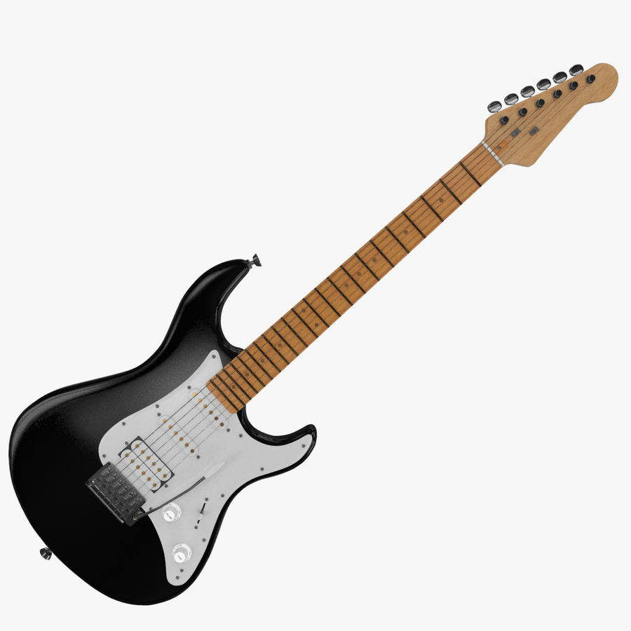 Fender Stratocaster Guitarra eléctrica royalty-free modelo 3d - Preview no. 3