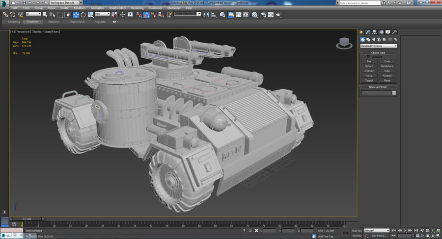 танк royalty-free 3d model - Preview no. 1