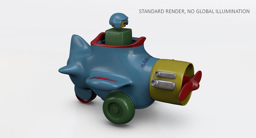 Brinquedo avião royalty-free 3d model - Preview no. 12