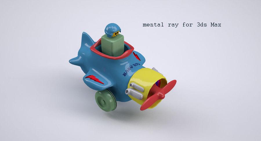 Brinquedo avião royalty-free 3d model - Preview no. 11