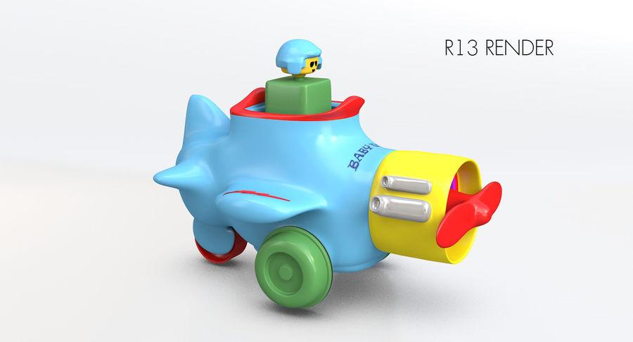 Brinquedo avião royalty-free 3d model - Preview no. 13