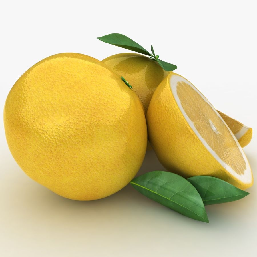 Grapefruit (Yellow) royalty-free 3d model - Preview no. 4
