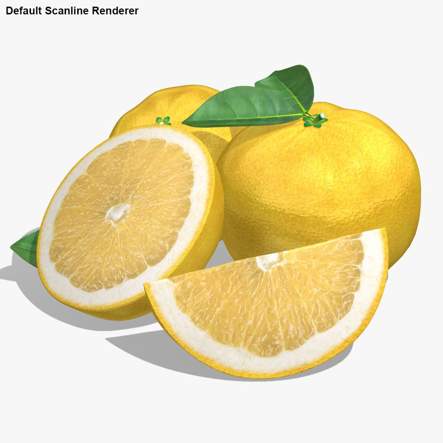 Grapefruit (Yellow) royalty-free 3d model - Preview no. 21