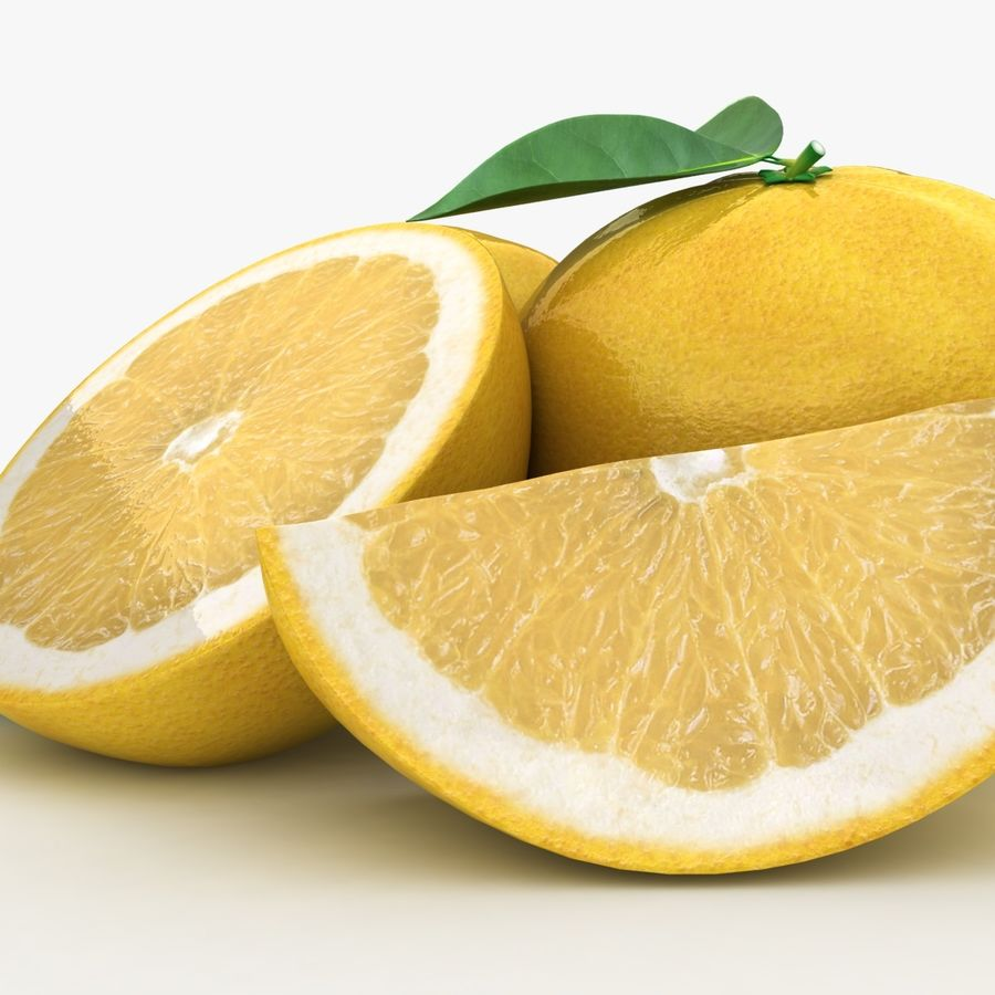 Grapefruit (Yellow) royalty-free 3d model - Preview no. 9