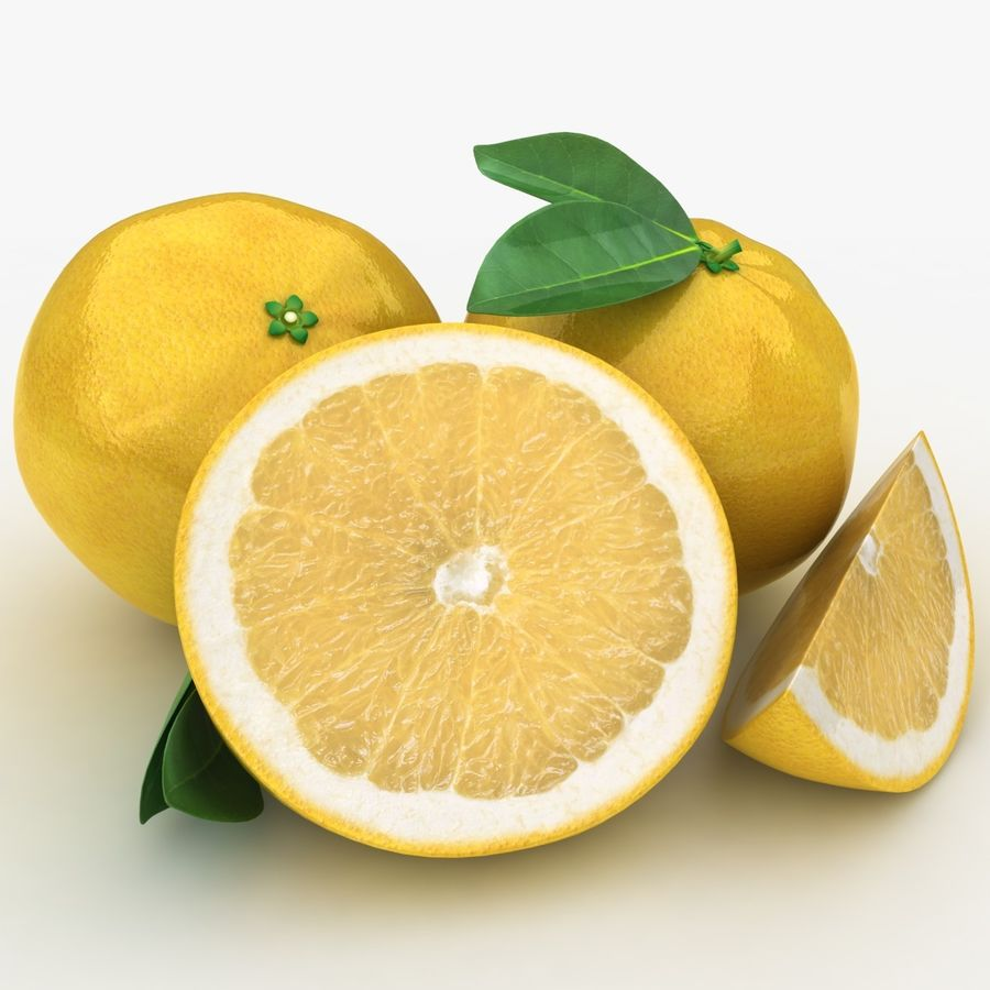 Grapefruit (Yellow) royalty-free 3d model - Preview no. 7