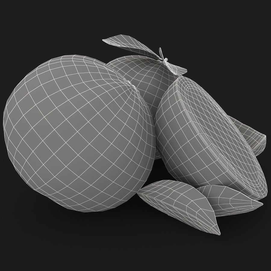 Grapefruit (Yellow) royalty-free 3d model - Preview no. 16