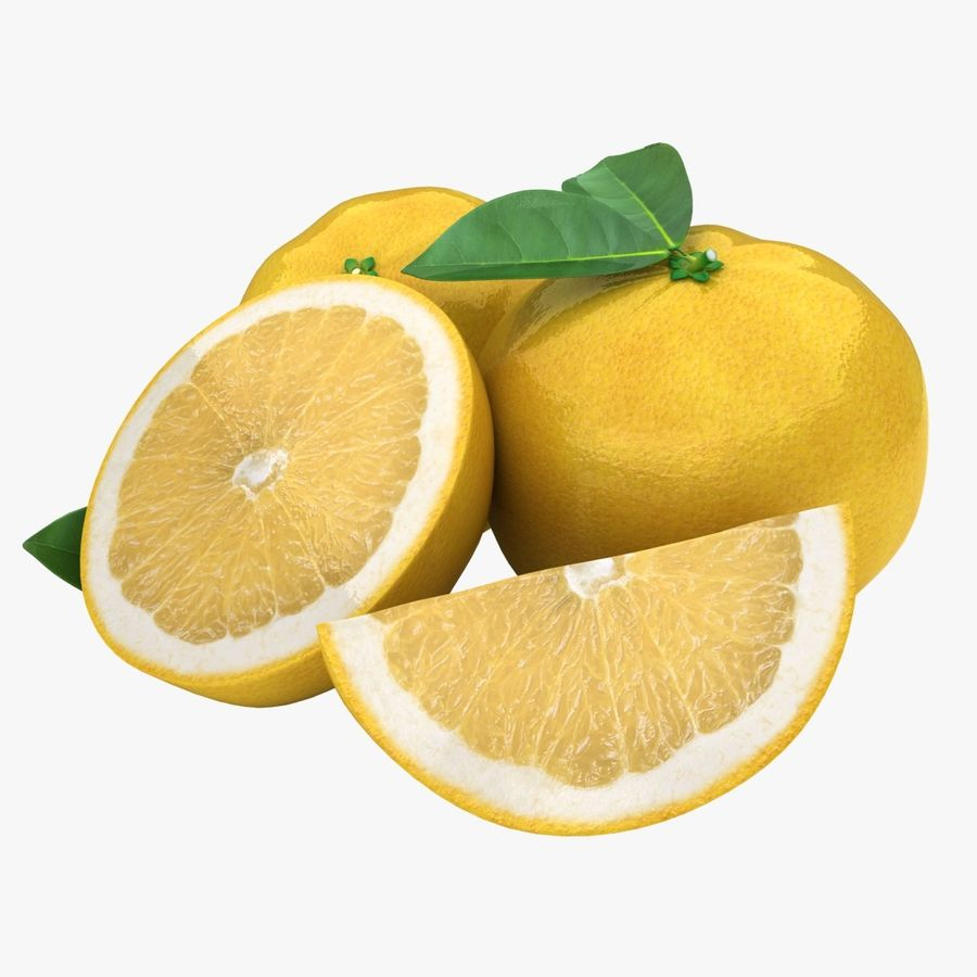 Grapefruit (Yellow) royalty-free 3d model - Preview no. 1
