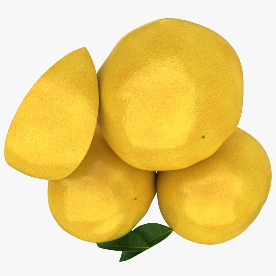 Grapefruit (Yellow) royalty-free 3d model - Preview no. 12