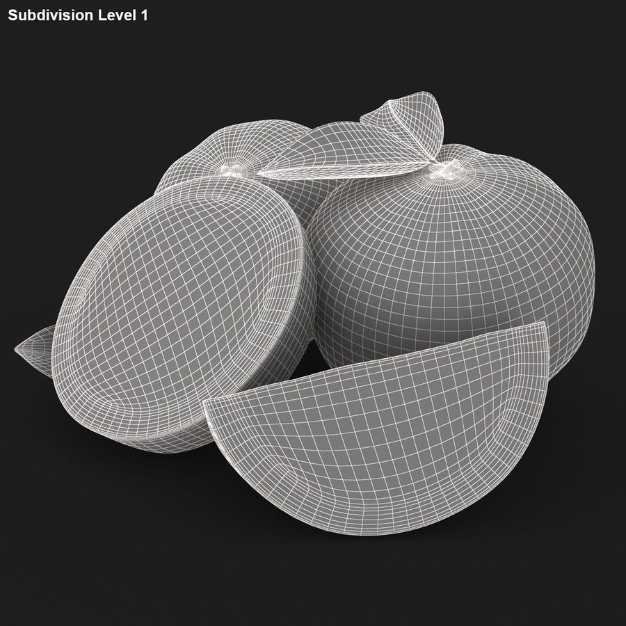 Grapefruit (Yellow) royalty-free 3d model - Preview no. 20