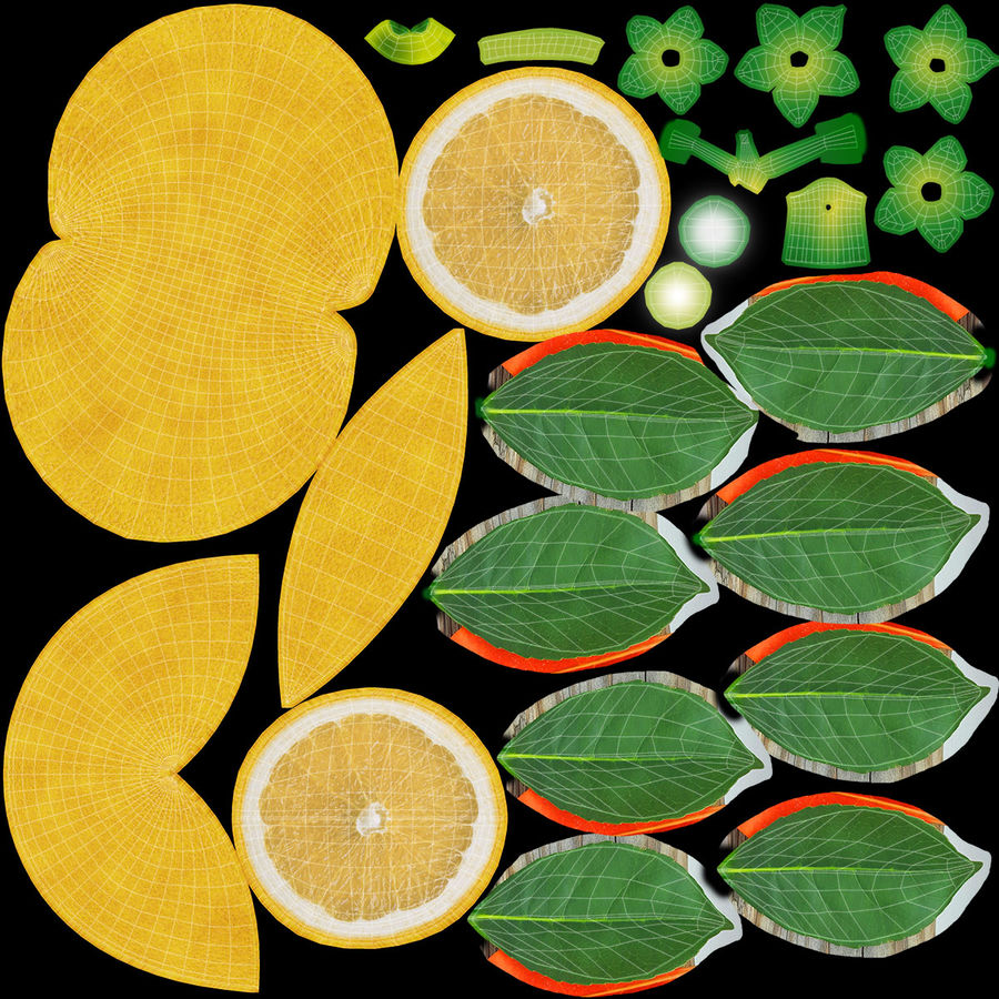 Grapefruit (Yellow) royalty-free 3d model - Preview no. 22