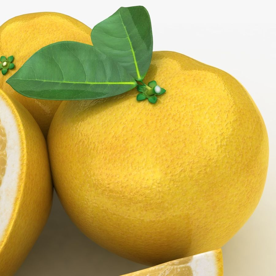 Grapefruit (Yellow) royalty-free 3d model - Preview no. 5