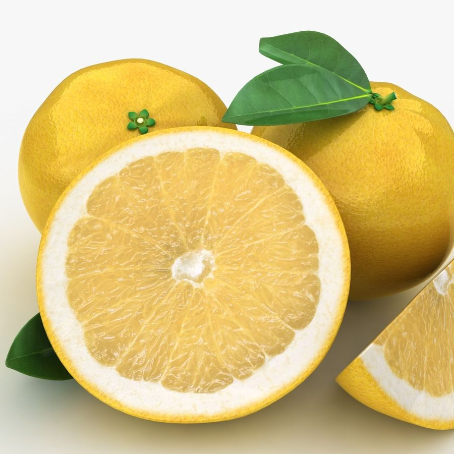 Grapefruit (Yellow) royalty-free 3d model - Preview no. 11