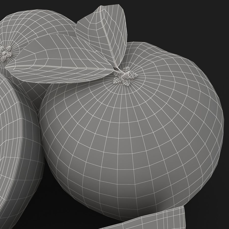Grapefruit (Yellow) royalty-free 3d model - Preview no. 14