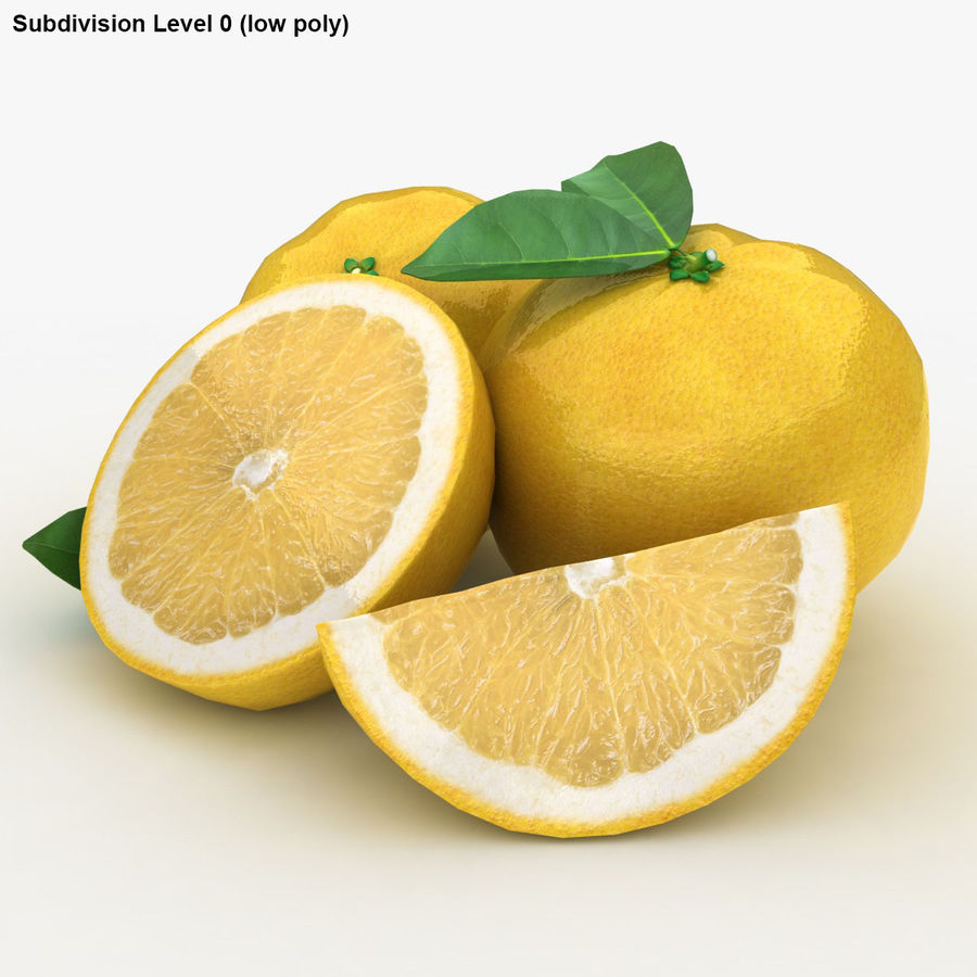 Grapefruit (Yellow) royalty-free 3d model - Preview no. 18