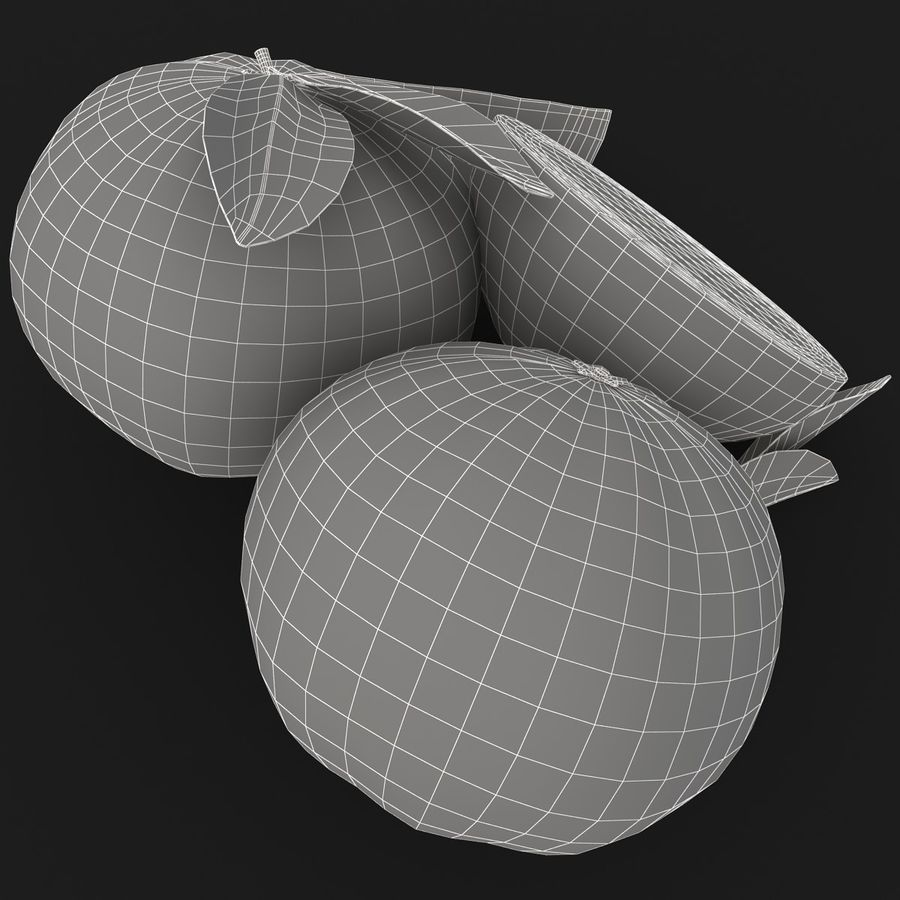 Grapefruit (Yellow) royalty-free 3d model - Preview no. 17