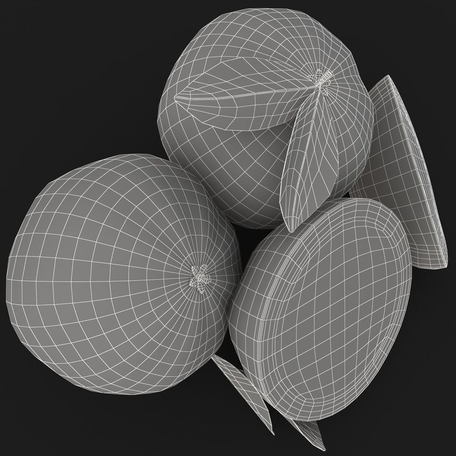 Grapefruit (Yellow) royalty-free 3d model - Preview no. 15